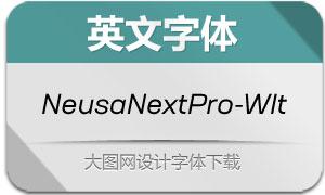 NeusaNextPro-WideIt(英文字体)