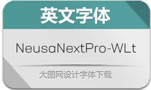 NeusaNextPro-WideLight(字体)