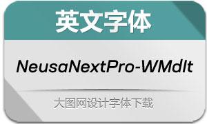 NeusaNextPro-WideMedIt(字体)