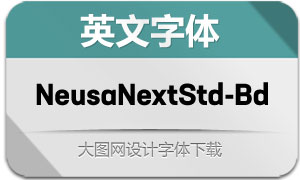 NeusaNextStd-Bold(英文字体)