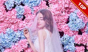 时尚杂志风格婚纱写真主题模板E