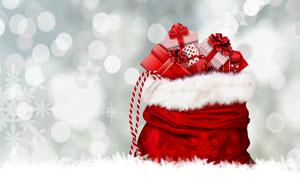 口袋里的圣诞节礼物盒摄影高清图片