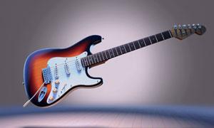 一只电吉他的展示效果摄影高清图片