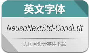 NeusaNextStd-CondLtIt(英文字体)