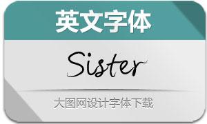 Sister(英文字体)
