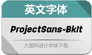 ProjectSans-BlackItalic(英文字体)
