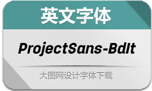 ProjectSans-BoldItalic(英文字体)