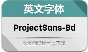 ProjectSans-Bold(英文字体)