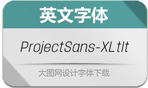 ProjectSans-ExtraLightItalic(字体)