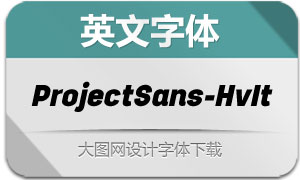 ProjectSans-HeavyItalic(英文字体)