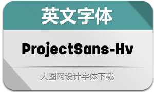 ProjectSans-Heavy(英文字体)