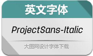 ProjectSans-Italic(英文字体)