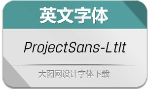ProjectSans-LightItalic(英文字体)