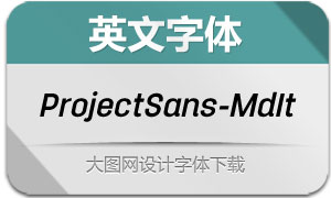 ProjectSans-MediumItalic(英文字体)