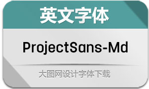 ProjectSans-Medium(英文字体)