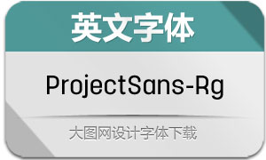 ProjectSans-Regular(英文字体)