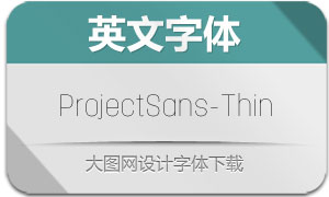 ProjectSans-Thin(英文字体)