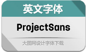 ProjectSans系列20款英文字体