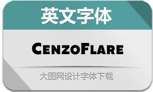 CenzoFlare系列40款英文字体