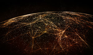 全球化分布趋势的效果创意高清图片