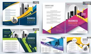 画册页面与单页等版式设计矢量素材