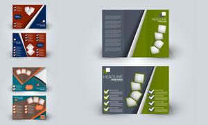 广告宣传适用三折页设计矢量素材V1