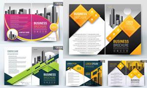 多用途画册页面与单页设计矢量素材
