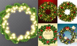 逼真效果树枝边框圣诞主题矢量素材