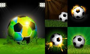火花光效视觉效果足球创意矢量素材