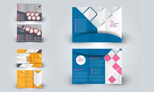 多图展示效果折页设计模板矢量素材