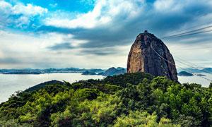 里约群山海景自然风光摄影高清图片