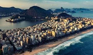城市建筑物与海景风光摄影高清图片