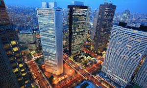 日本东京高楼大厦俯瞰摄影高清图片