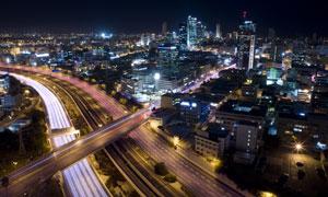 以色列的特拉维夫城市夜景高清图片