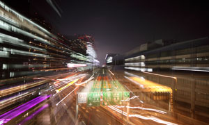 东京惊艳长曝光效果的夜景高清图片
