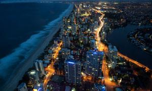 澳大利亚昆士兰州鸟瞰视角高清图片