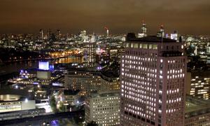 灯火通明伦敦夜景风光摄影高清图片