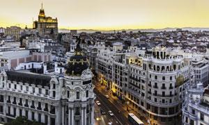 西班牙马德里城市风光摄影高清图片