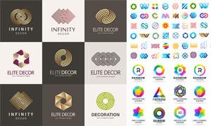 炫彩缤纷几何抽象元素标志矢量素材