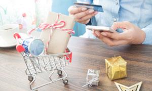移动支付购物主题创意摄影高清图片