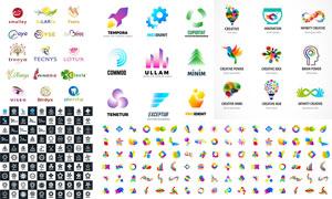 五彩缤纷效果标志设计创意矢量素材