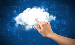 触摸软软云朵的手创意摄影高清图片