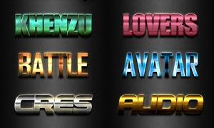 金属质感的3D艺术字设计PS样式V22