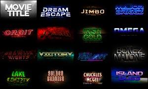 21款电影主题风格艺术字设计PS样式