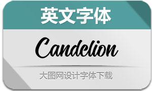 Candelion系列四款英文字体