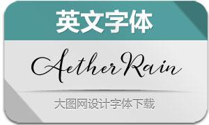 AetherRain系列七款英文字体