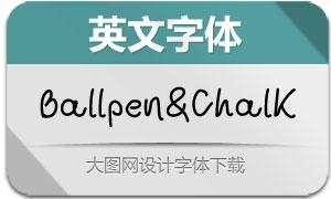 BallpenAndChalk系列六款英文字体