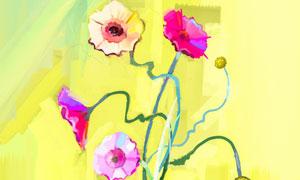 瓶中鲜花主题绘画创意设计高清美高梅