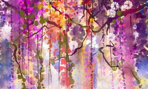 从树枝上垂下来的藤蔓绘画创意美高梅