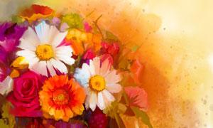 菊花与玫瑰花主题绘画设计高清美高梅
